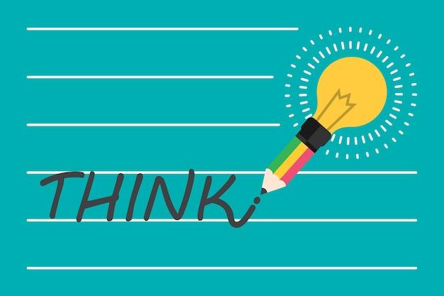 Idée et concept d'ampoule créatif.