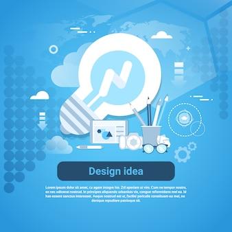 Idée de conception bannière de modèle de développement web avec espace de copie