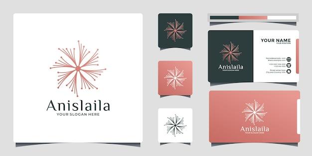 Idée de conception de modèle de conception de logo de pissenlit, salon de spa, etc.