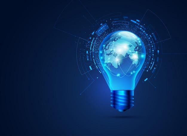 Idée conceptuelle de réseau mondial