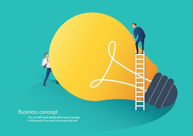 Idée de coopération gens d'affaires