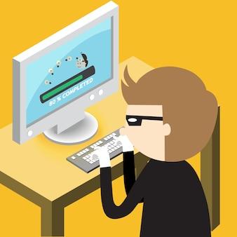 Une idée de copie de voleur de l'ordinateur