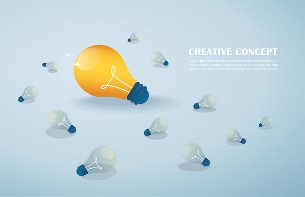 Idée créative, ampoules