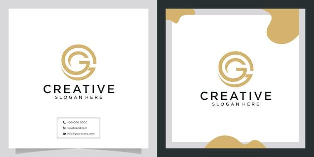 Idée créative du logo gg adaptée à la conception d'une entreprise