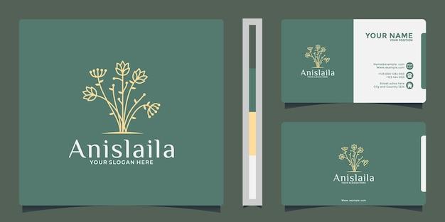 Idée créative fleur botanique pour votre entreprise spa, salon, cosmétique, à base de plantes, etc.