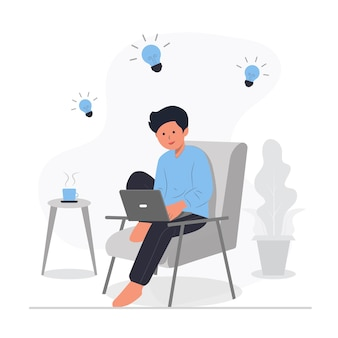 Idée créative innovation inspiration concept illustration