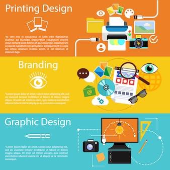 Idée créative, procédé d'impression, design graphique et stratégie de marque