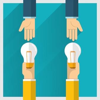 L'idée d'échange de main et un moyen offrent des avantages