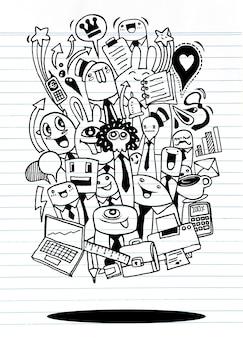 Idée d'entreprise dessinés à la main