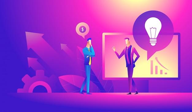 Idée d'entreprise, partenaires, ensemble