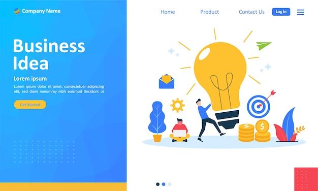 Idée d'entreprise pour la page de renvoi web
