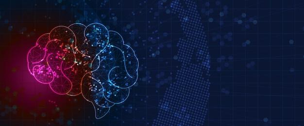 Idée de fond de données technologiques de solution commerciale globale