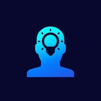 Idée, icône de perspicacité pour le web