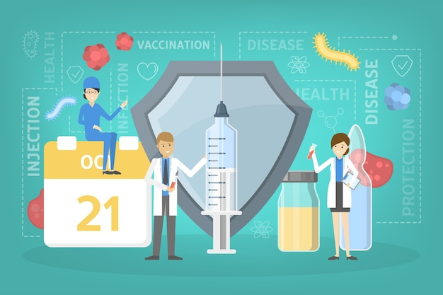 Idée d'injection de vaccin pour se protéger de la maladie