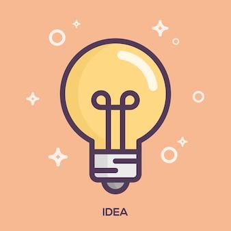 Idée ligne plate illustration.