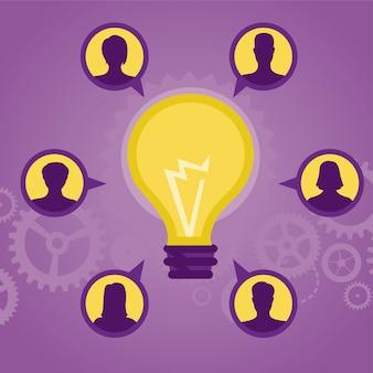 Idée de vecteur - ampoule