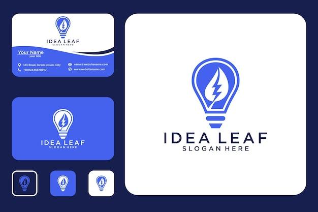 Idées avec des feuilles de conception de logo et de cartes de visite