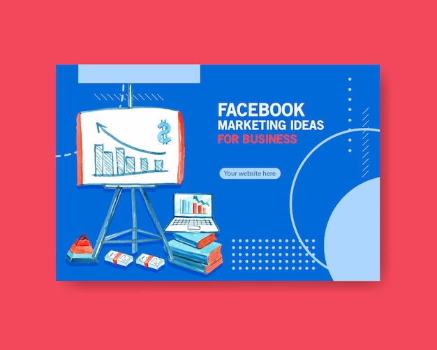 Idées marketing aquarelle facebook