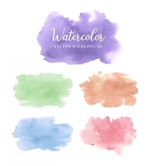 Idées de peinture aquarelle avec fond de nuances colorées
