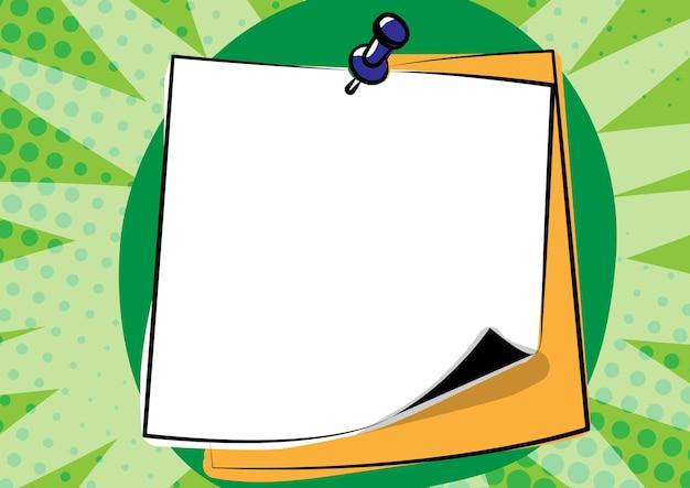 Idées de présentation de message coloré notes autocollantes informations d'annonce de rappel de message