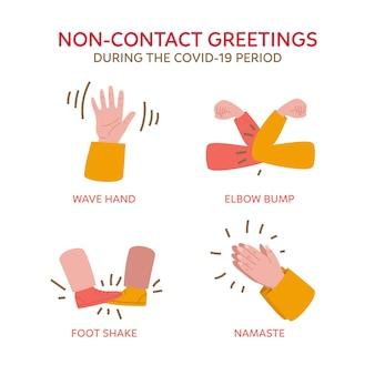 Idées de salutations sans contact pendant la période covid-19