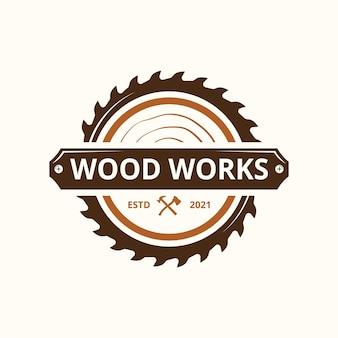 Identité du logo de la société woodworks industries