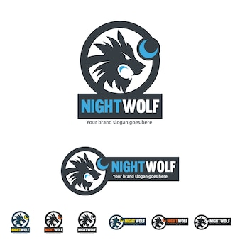 L'identité du loup de nuit, le loup roux avec la forme de la lune