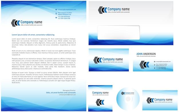 Identité d'entreprise bleu