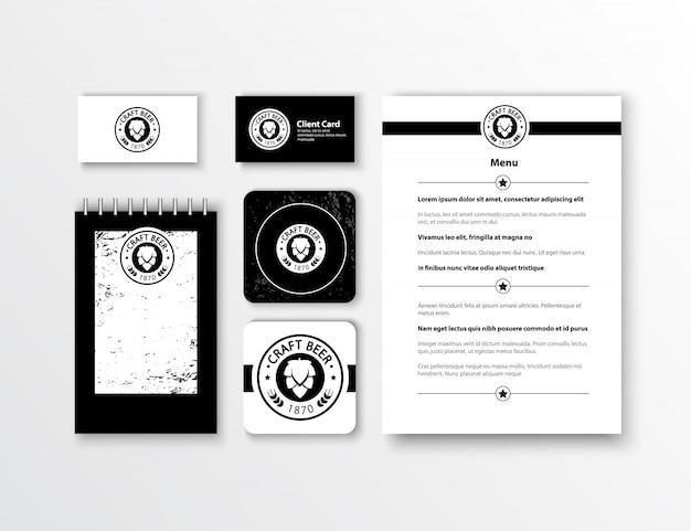 Identité d'entreprise. conception de modèle de papeterie classique. documentation pour les entreprises.
