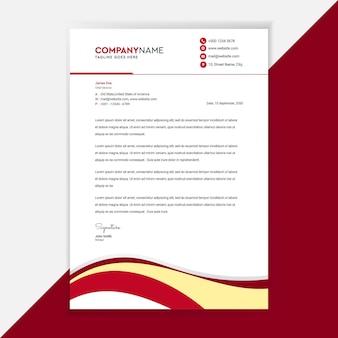 Identité d'entreprise de conception de modèle de papier à en-tête d'entreprise.
