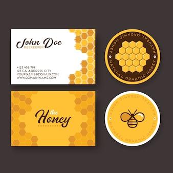 Identité d'entreprise pour une entreprise produisant du miel d'abeilles