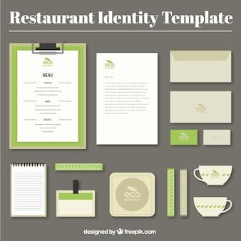 Identité de l'entreprise pour le restaurant éco