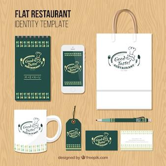 Identité de l'entreprise pour le restaurant vert