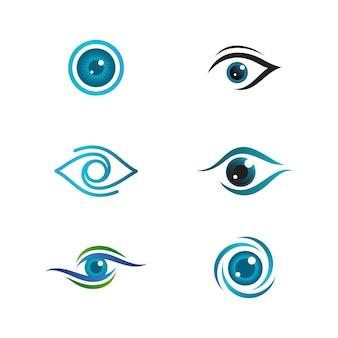 Identité de marque corporate eye care vector icon design