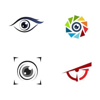 Identité de marque création de logo vectoriel corporate eye care