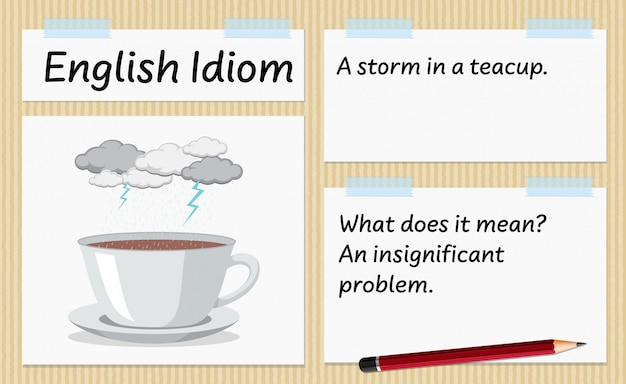 Idiome anglais une tempête dans un modèle de tasse de thé