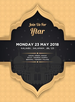 Iftar ramadan bannière