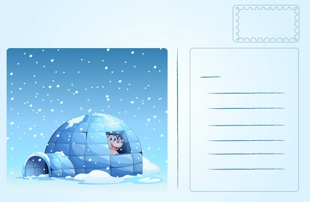 Igloo carte postale