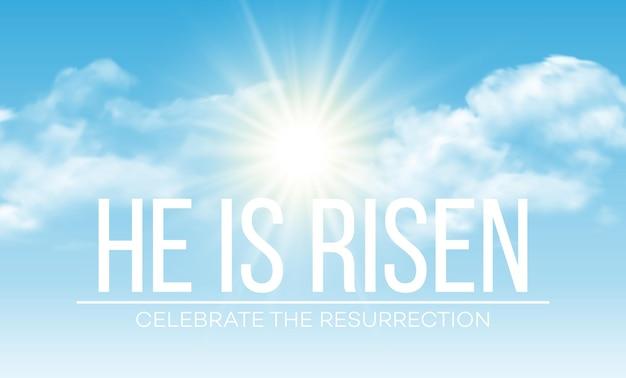 Il est ressuscité. fond de pâques. illustration vectorielle eps10
