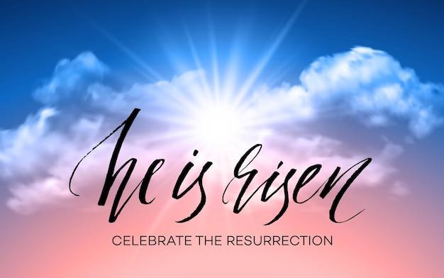 Il est ressuscité. fond de pâques.