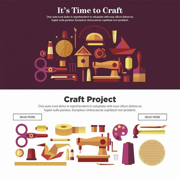 Il est temps de faire des affiches internet promotionnelles sur des projets d'artisanat