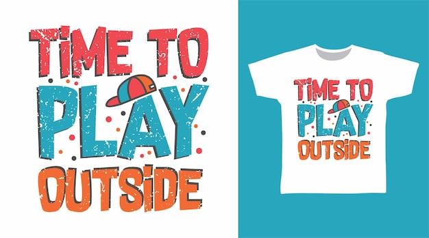 Il est temps de jouer en dehors de la typographie pour la conception de t-shirts