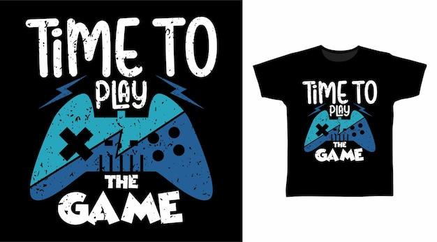 Il est temps de jouer à la typographie du jeu pour la conception de t-shirts