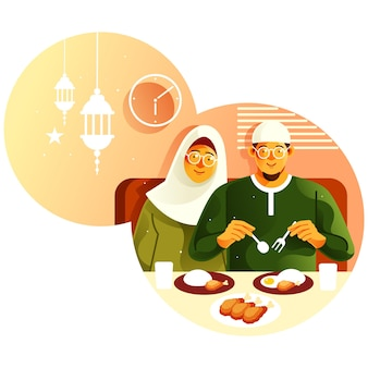 Il est temps de rompre le jeûne au mois de ramadan
