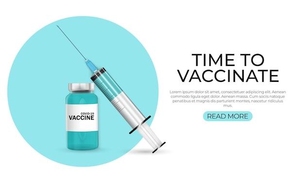Il est temps de vacciner 2021. vaccination contre le coronavirus.