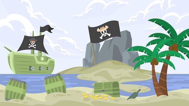 Île aux pirates - scènes extérieures