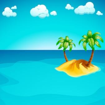 Île dans la mer