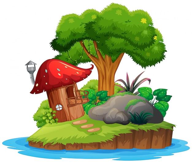 Une île de nature isolée
