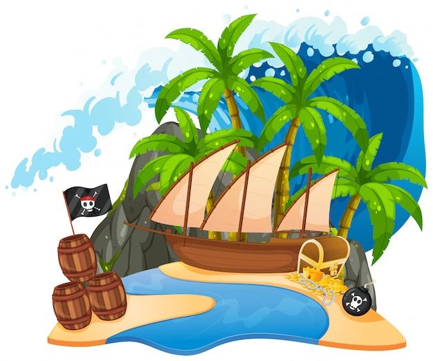 Une île de pirate isolée