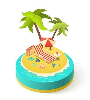 Île de vacances d'été